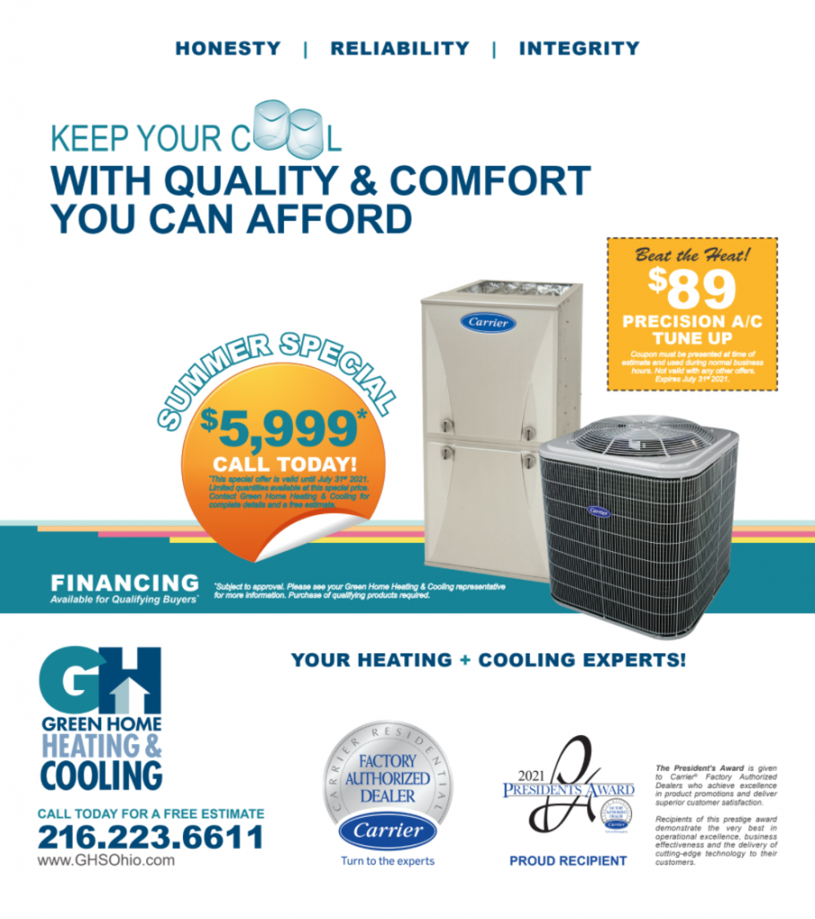 July air conditioning special. $5,999.